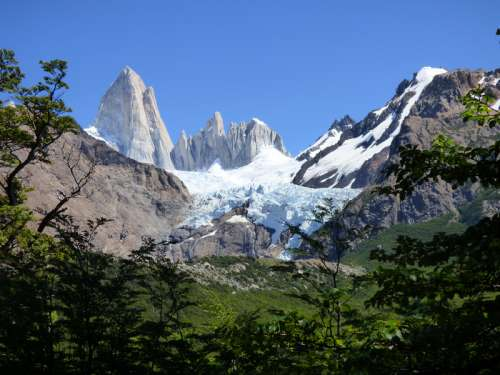 Chaltn Fitz Roy Mountains in Argentina free photo