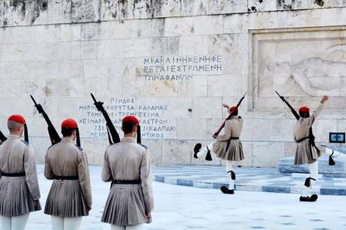 Changing of the Guard in Athens, Greece free photo
