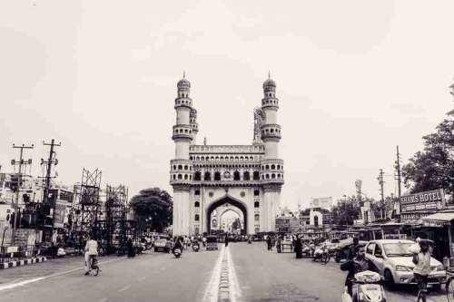 Charminar Monument in Hyderabad, India free photo