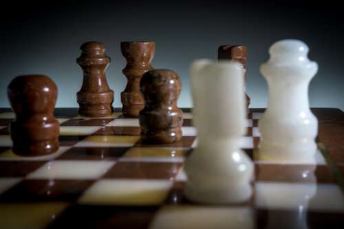 Chess Pieces Close Up free photo