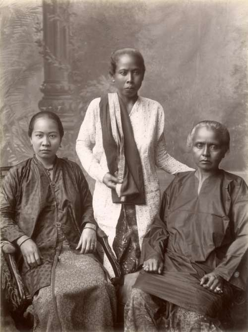 Chinese and Malay women in Singapore in 1890s free photo