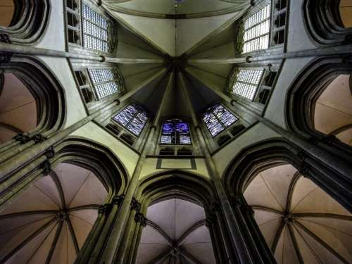 Choir lantern of Utrecht Cathedral, Netherlands free photo