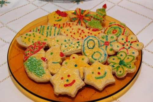 Christmas Cookie Plate free photo