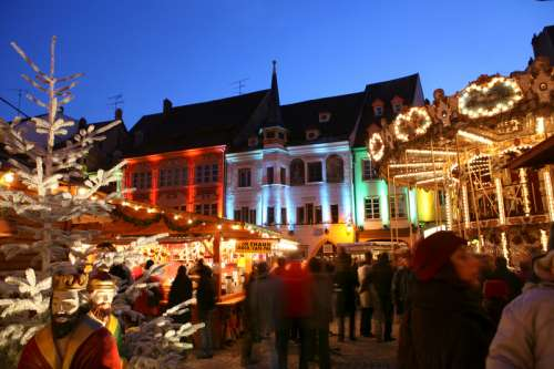 Christmas market in Mulhouse in France free photo