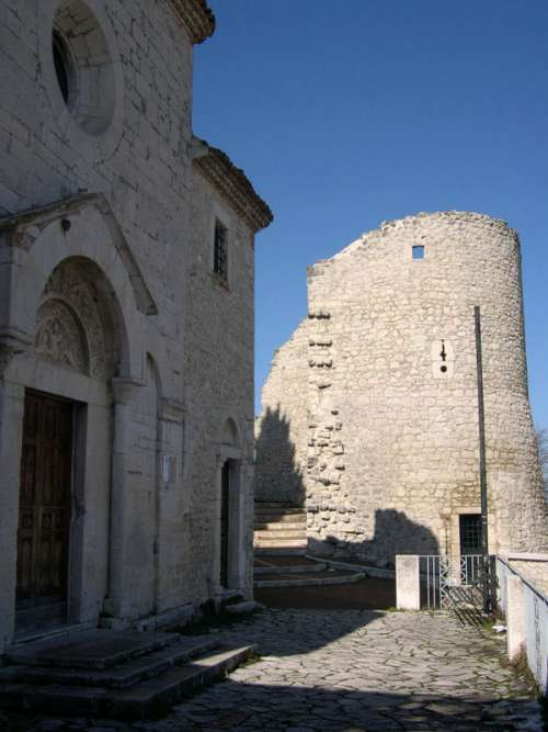 Church of San Bartolomeo and tower in Campobasso, Italy free photo