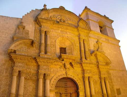 Church of the Jesuits in Arequipa, Peru free photo