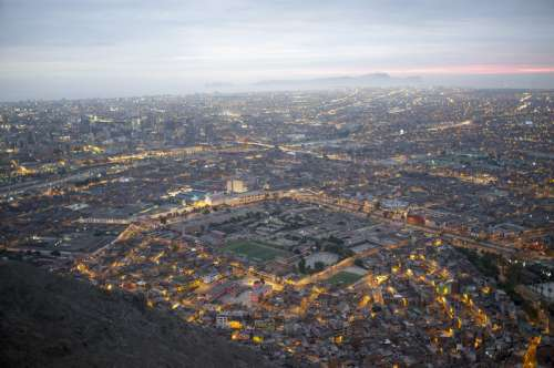 Cityscape and overview of Lima, Peru free photo