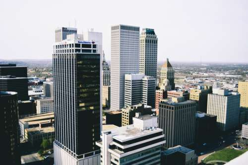 Cityscape and Towers in Tulsa, Oklahoma free photo