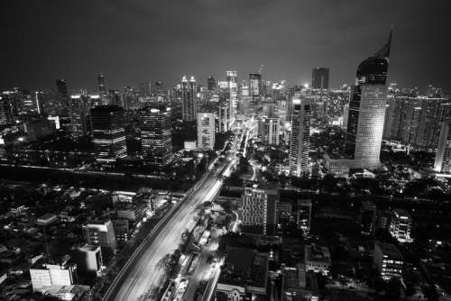 Cityscape of Central Jakarta in Indonesia free photo