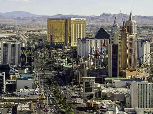 Cityscape of the Las Vegas Strip, Nevada free photo