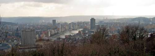 Cityscape view of Liege, Belgium free photo