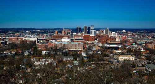 Cityview and buildings in Birmingham, Alabama free photo