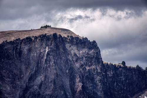 Cliffs and Bluffs in Crater Lake National Park, Oregon free photo