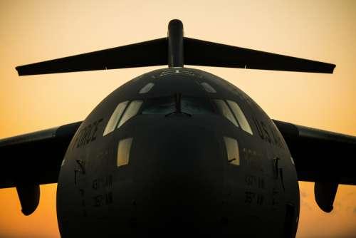 Close-up of a Globemaster III Aircraft free photo