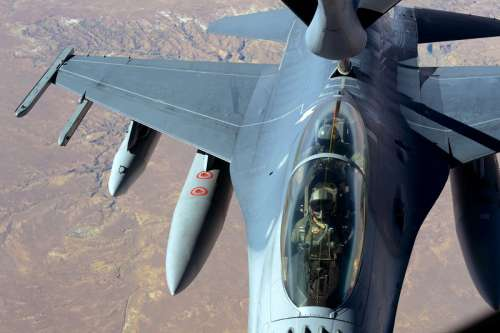 Close-up of an F-16 Fighting Falcon free photo