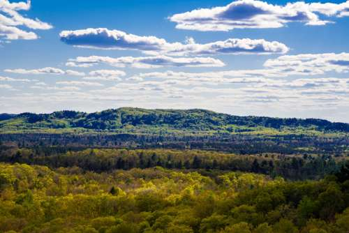 Close up of distant hill at Levis Mound free photo