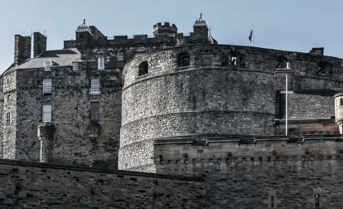 Close-up of Edinburgh Castle free photo