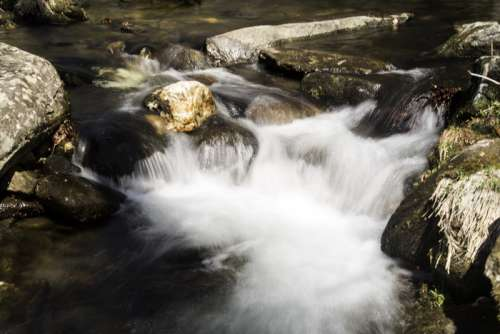 Close-up of rapids and cascades in the river at Great Smoky Mountains National Park, North Carolina free photo