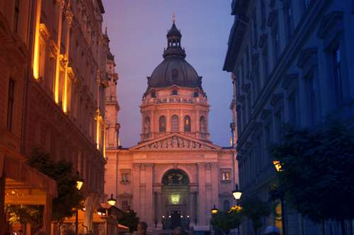 Close-up of Church of Budapest in Hungary free photo