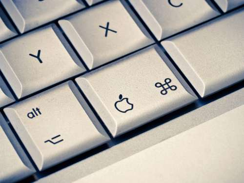Closeup of keyboard keys free photo