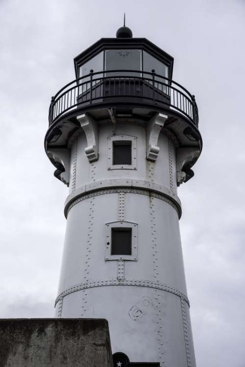 Closeup of the lighthouse in Duluth, Minnesota free photo