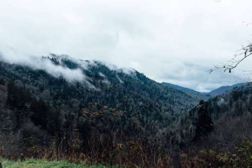 Clouds over Great Smoky Mountains National Park, Tennessee free photo