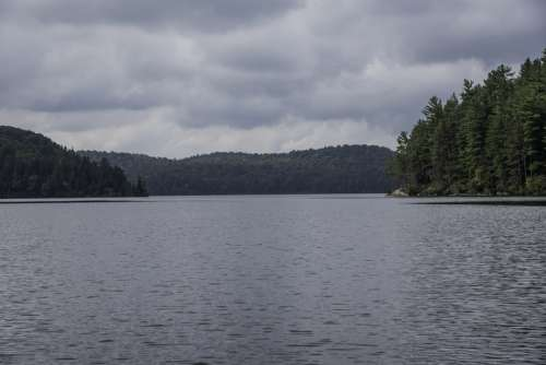 Clouds over the Water at Algonquin Provincial Park, Ontario free photo