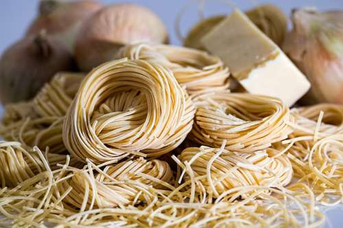 Coils of pasta and noodles free photo