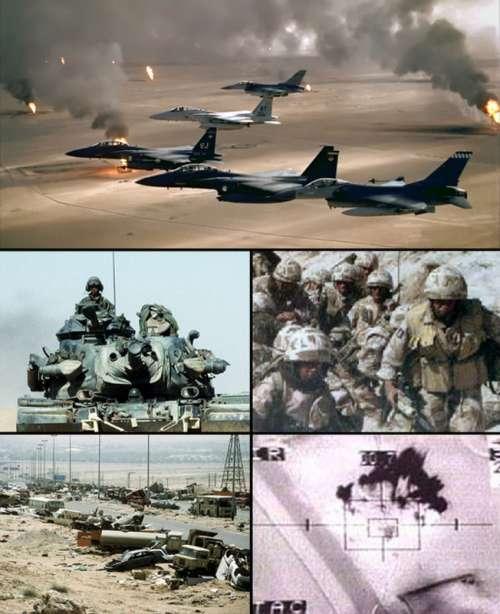 Collage of Gulf War battles free photo