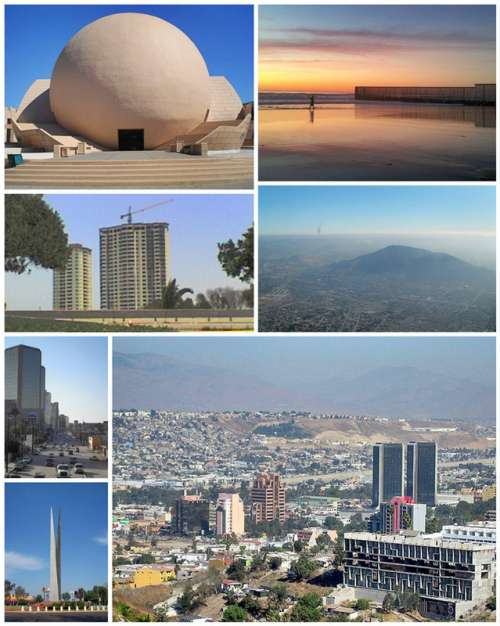 Collage of Tijuana, Baja California, Mexico free photo