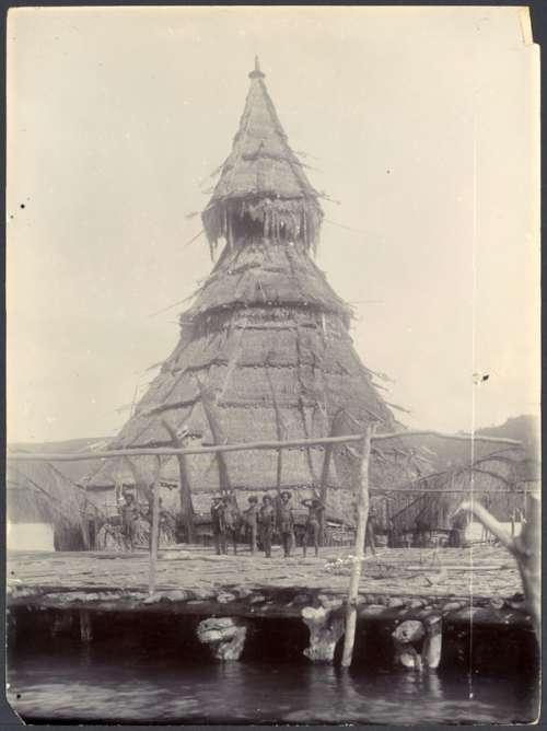 Community house of Tobati village natives of the Metu-Debi Island, New Guinea free photo
