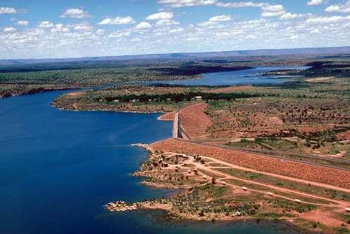 Conchas Dam landscape in New Mexico free photo