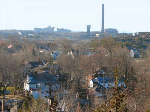 Copper Cliff is in the heart of the nickel mining industry in Sudbury, Ontario, Canada free photo