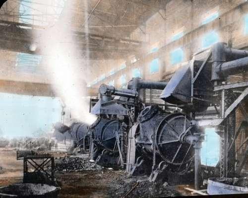 Copper converter in Sudbury, Ontario, Canada in 1920 free photo