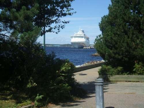 Cruise Ship docked in Sydney, Nova Scotia free photo