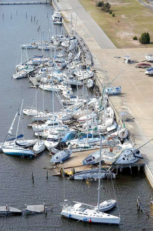 Damage done by Hurricane Ivan in Pensacola, Florida free photo