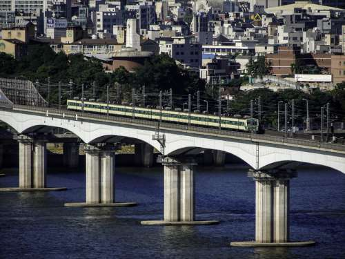 Dangsan Railway Bridge in Seoul, South Korea free photo