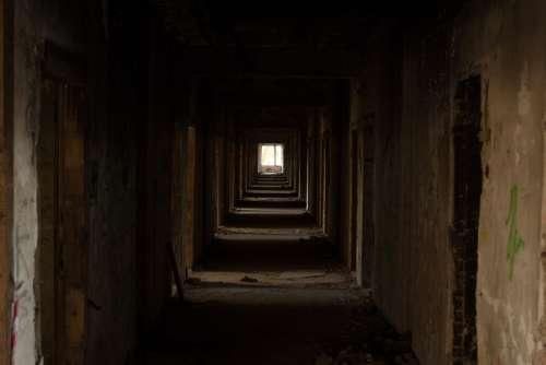 Dark Corridor in Russia free photo