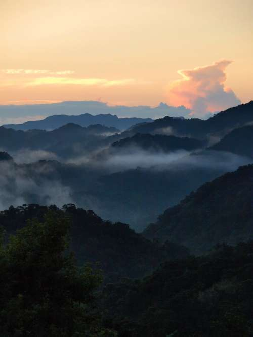 Dawn over the Mountains in Taiwan free photo
