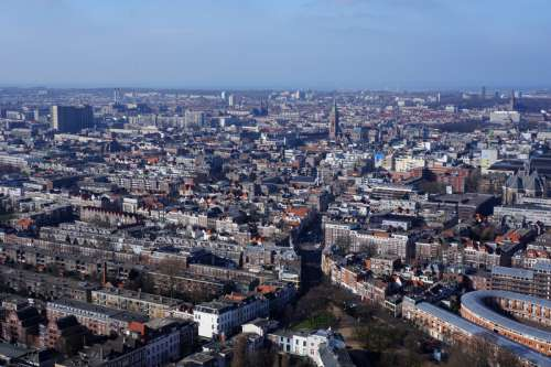 Daytime Cityscape View of The Hague, Netherlands free photo