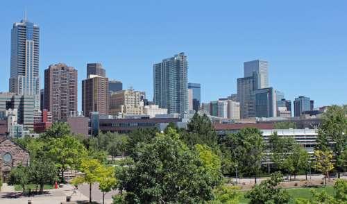 Daytime Skyline of Downtown Denver, Colorado free photo