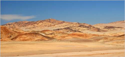 Desert and Mountains landscape in Chile free photo