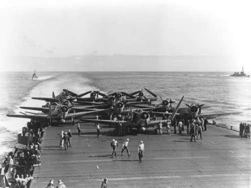 Devastators on the USS Enterprise in World War II, Battle of Midway free photo