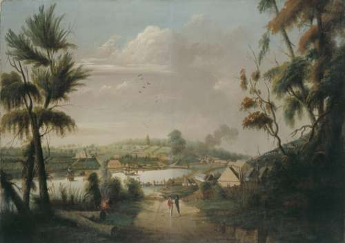 A Direct North General View of Sydney Cove, 1794 in New South Wales, Australia free photo