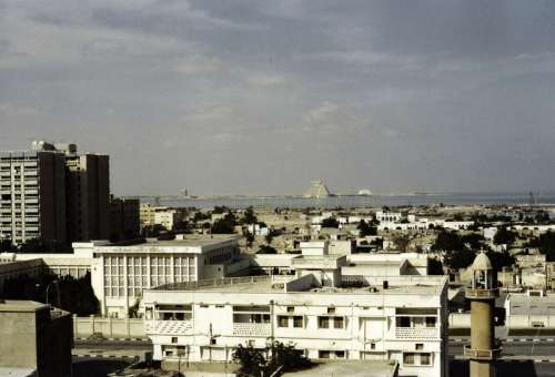 Doha in the 1980s in Qatar free photo