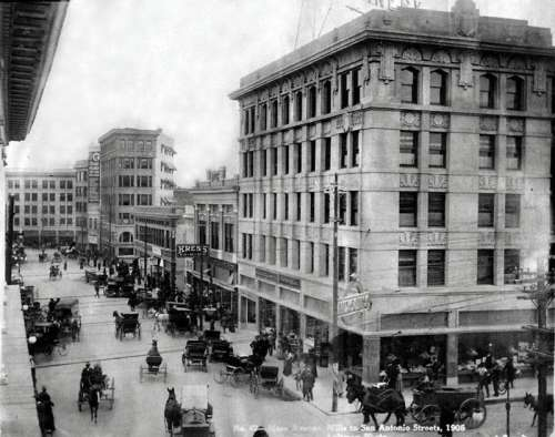 Downtown El Paso in 1908 in Texas free photo