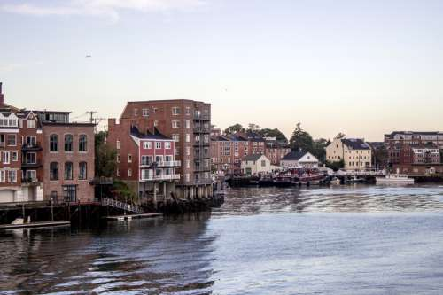 Downtown Portsmouth, New Hampshire on the Waterfront free photo