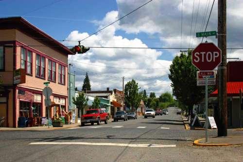 Downtown Ridgefield view in Washington free photo