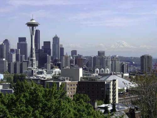 Downtown Seattle from Kerry Park in Washington free photo