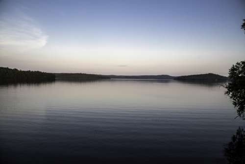 Dusk Landscape of Ayers Lake at Algonquin Provincial Park, Ontario free photo